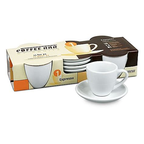bed bath and beyond coffee mugs coffee bar by konitz no 1 espresso cups in white set of