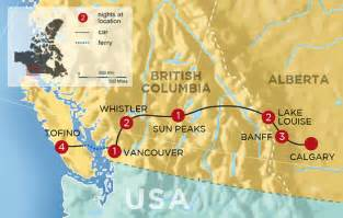 map of canada west coast exploring the west coast and canadian rockies