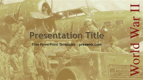 Powerpoint Templates Free Download Military Images Powerpoint Template And Layout World War 2 Powerpoint Template