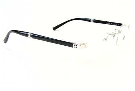 mont blanc eyeglasses mb 9101 mb9101 f80 silver rimless