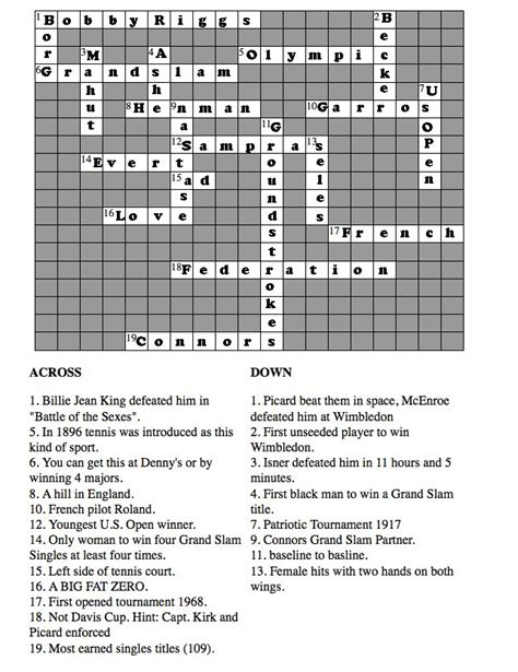 printable crossword puzzle and answers crossword puzzle answers