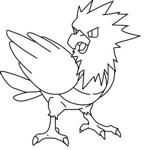 pokemon spearow coloring page