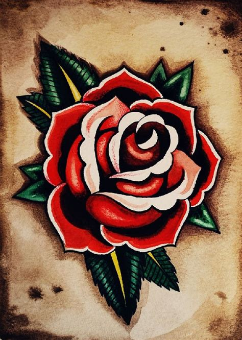rose old school tattoo 27 school tattoos designs and ideas inspirationseek