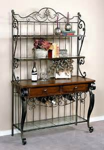 Wrought Iron Bakers Rack With Wine Rack Bakers Rack With Wine Storage Iron Bakers Rack With Wine