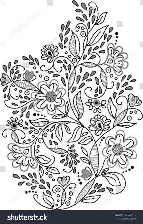 black and white embroidery patterns black white floral embroidery pattern vector stock vector