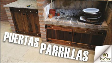 muebles de cocina madera rustica puertas parrilla madera rustica a medida biotec muebles