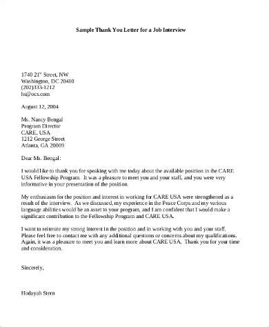 thank you letter after not qualified sle thank you letter 9 exles in pdf