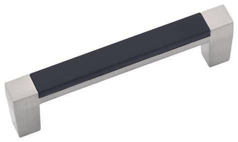 loft satin nickel with black cabinet pull 3