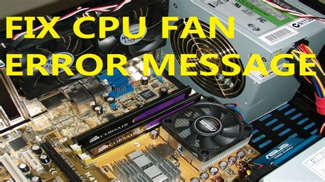 computer fan not working fix cpu fan error message of your computer youtube