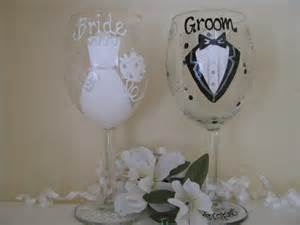 Personalized Painted Wine Glasses Wedding » Home Design 2017