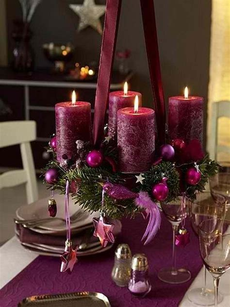 36 impressive christmas table centerpieces purple