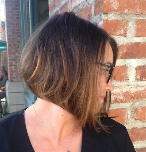 brown and ombre with a line hair cut 40 cute and easy to style short layered hairstyles page