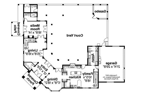 mediterranean floor plan mediterranean house plans veracruz 11 118 associated