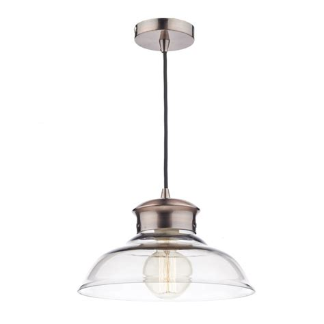 Glass Ceiling Lights with Dar Lighting Sir0164 Siren Copper And Glass Ceiling Pendant Light