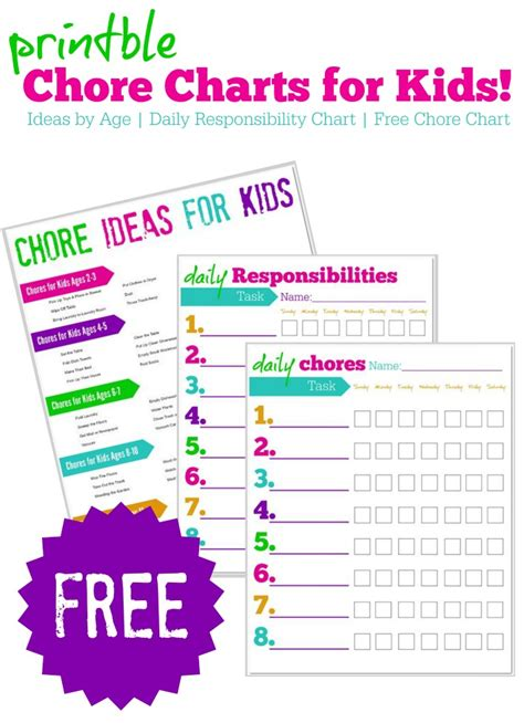 printable toddler responsibility chart free printable chore charts for kids free responsibility