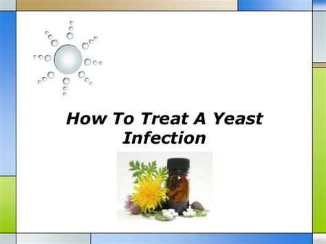 how to treat a yeast infection
