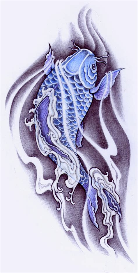 blue koi by pallat on deviantart