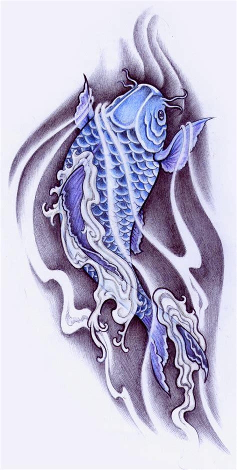 koi tattoo logo blue koi by pallat on deviantart