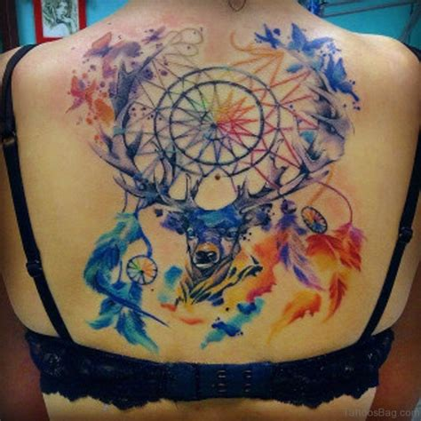watercolor dreamcatcher tattoo 50 wonderful dreamcatcher tattoos on back