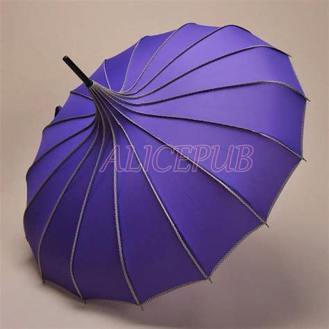 Wedding Umbrellas by Purple Umbrella Wedding Umbrella Parasol Bridal