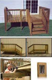 Premade Porch pre made decks for mobile homes studio design