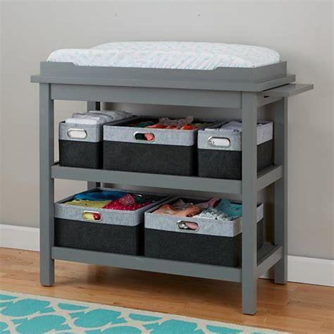 grey baby changing table change it up grey changing table