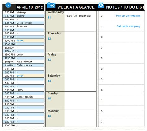 daily planner template 8 free sles exles format