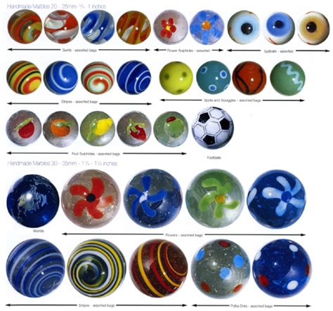 Handcrafted Marbles - 10 handmade marbles