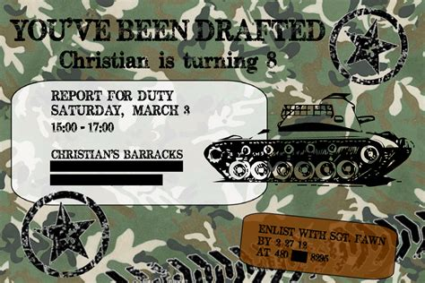 camouflage invitation template fanciful fawn army camouflage invite