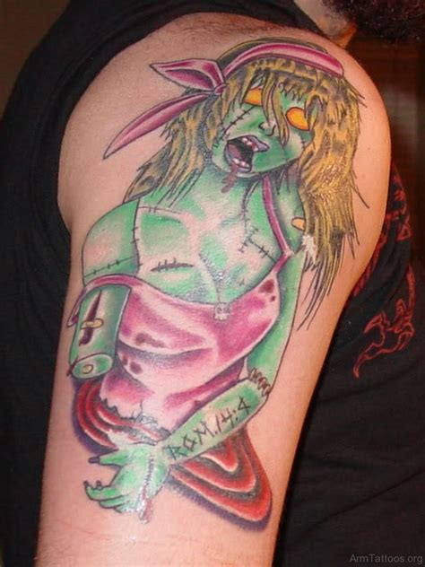 zombie girl tattoo designs 79 horror tattoos for arm