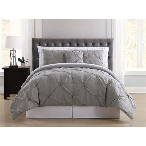 twin xl bed in a bag truly soft arrow pleated grey twin xl bed in a bag