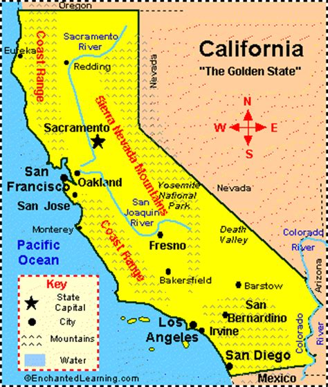 californiais located in the western united states and