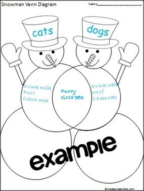 snowman venn diagram printable snowman pals venn diagram printable free