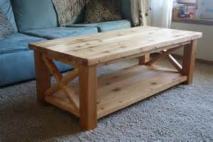 white rustic x coffee table in cedar diy projects