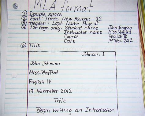 high school mla heading format   assignments
