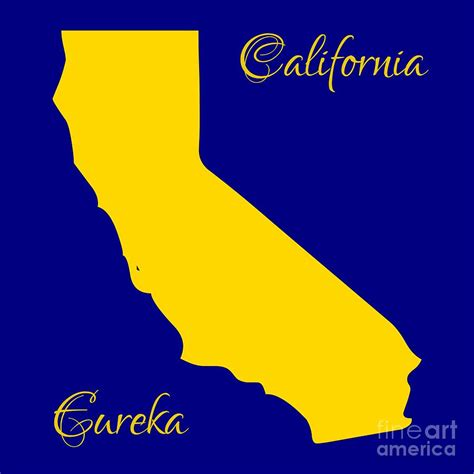 california map with state colors and motto digital by