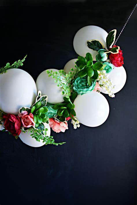 Festive Balloon & Flower Garland using white balloons