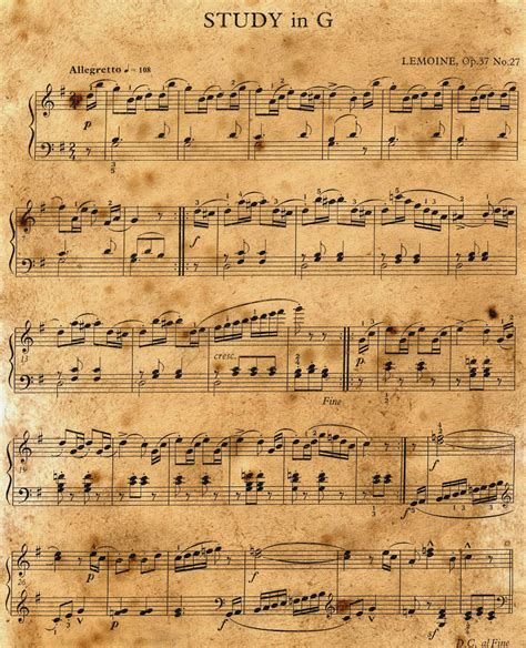 printable sheet music vintage vintage music sheet stock by the one and only on deviantart