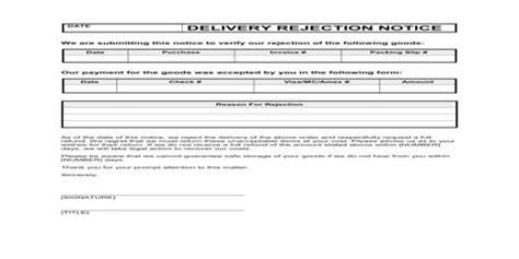 Purchase Order Refusal Letter meaning of order refusal letter qs study