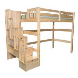 Plans For Loft Bed With Stairs by Aria Staircase Full Loft Bed Kids Youth Loft Beds With Stairs