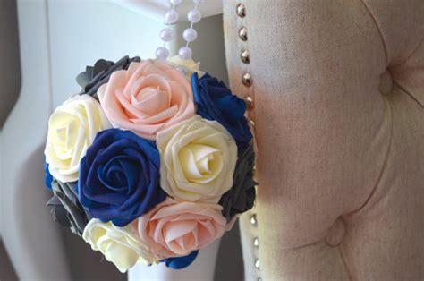 Royal Blue And Ivory Wedding Decorations by Ivory Grey Pink Blush Royal Blue Wedding Foam Flower Balls