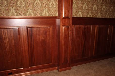 mahogany wainscoting wood wainscoting stained pinterest wainscoting