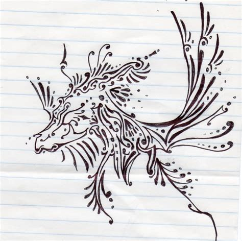 henna design dragon by tsubane on deviantart