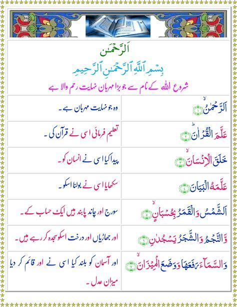 surah ar rahman urdu translation mp3 download quran surah surah ar rehman
