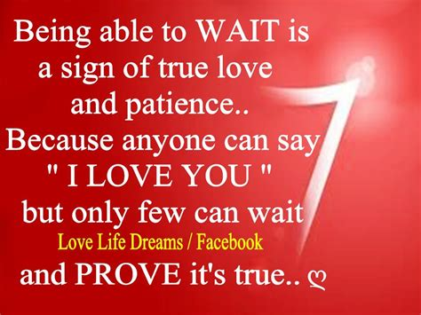 signs of true love love life dreams being able to wait is a sign of true