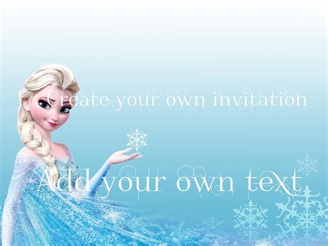 frozen invitation template mobawallpaper