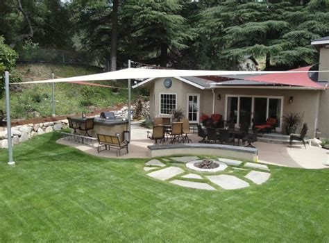 shaded backyard ideas backyard shade sails landscaping network