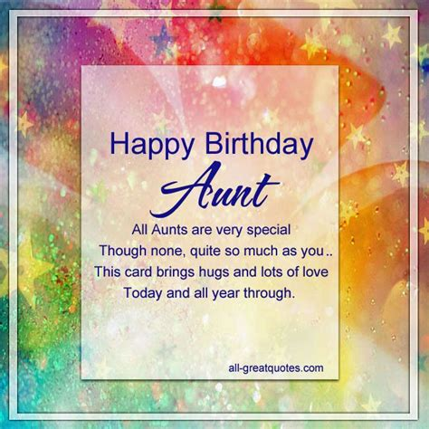printable birthday cards for aunt free happy birthday aunt
