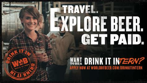beer internship a company is paying you 12k for travelling and drinking beer
