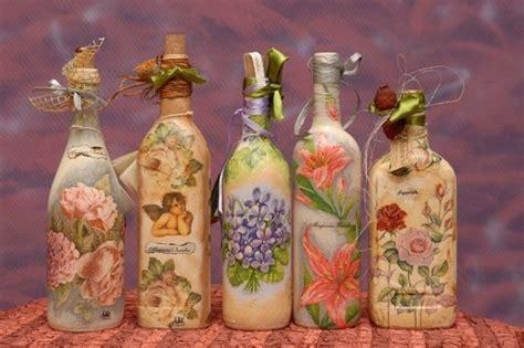 tutorial decoupage barattoli vetro decoupage su bottiglie di vetro come farlo e conservarlo